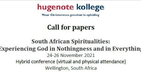 Call for papers – South African Spiritualities – Hybrid conference